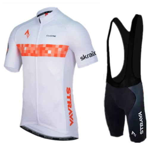 2019 <font><b>STRAVA</b></font> Cycling Jersey Cycling Clothing Summer Short Sleeve Jersey Pro Team Racing MTB Road <font><b>Bike</b></font> <font><b>Shirt</b></font> Ropa Ciclismo image