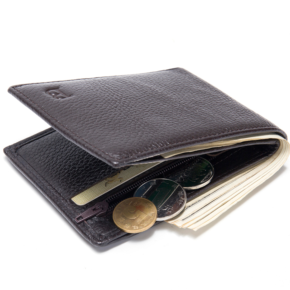 Baborry Portable New Design Genuine Leather Men Wallets Coffee Color Quality Soft 2 Fold Coin Pocket ID Card Holder Purse Wallet автоинструменты new design autocom cdp 2014 2 3in1 led ds150