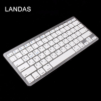 Landas Wireless Russian Keyboard Universal Bluetooth Wireless Keyboard For Apple For Android Smartphone Tablets Notebook Desktop