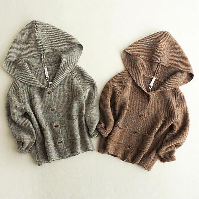 Novas cardigans para Meninos meninas Outono Primavera algodão criança meninos camisola roupas de Lazer Blusas single-breasted meninos roupas Q3