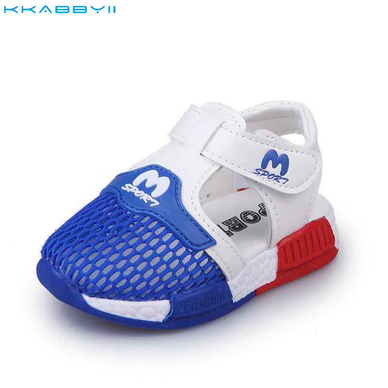 KKABBYII Summer Boys Sandals Shoes Breathable Mesh Girl Kids Mesh Sport Shoes Girls Beach Sandals Children Sneakers Size 22-26