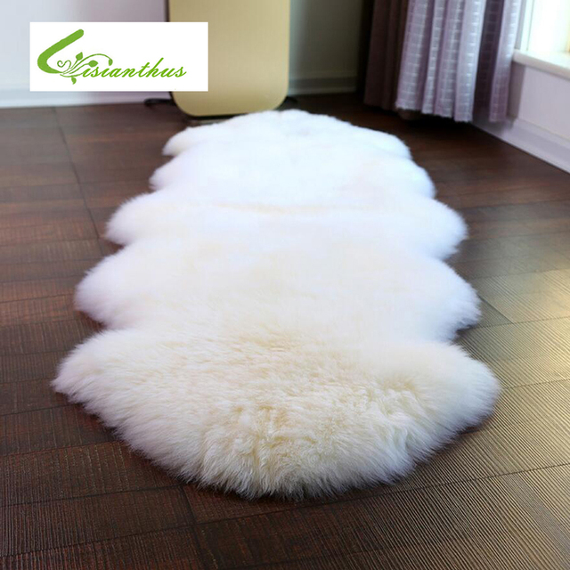 Bon 75*106cm Imitation Sheepskin Hairy Carpet For Living Room Bedroom Rugs Skin  Fur Plain Fluffy