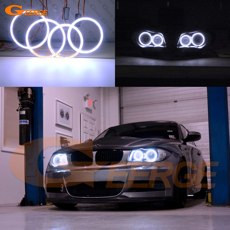 For BMW 1 Series E81 E82 E87 E88 2004-2012 XENON HEADLIGHT Excellent angel eyes Ultra bright illumination COB led angel eyes kit ветровики skyline bmw 5 series e34 88 96 sd