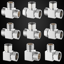brass Pipe Fittings 4 3 2 tri clamp 2 water fittings diameter pipe fitting tee 20MM G1/2 FREE SHIPPING стоимость