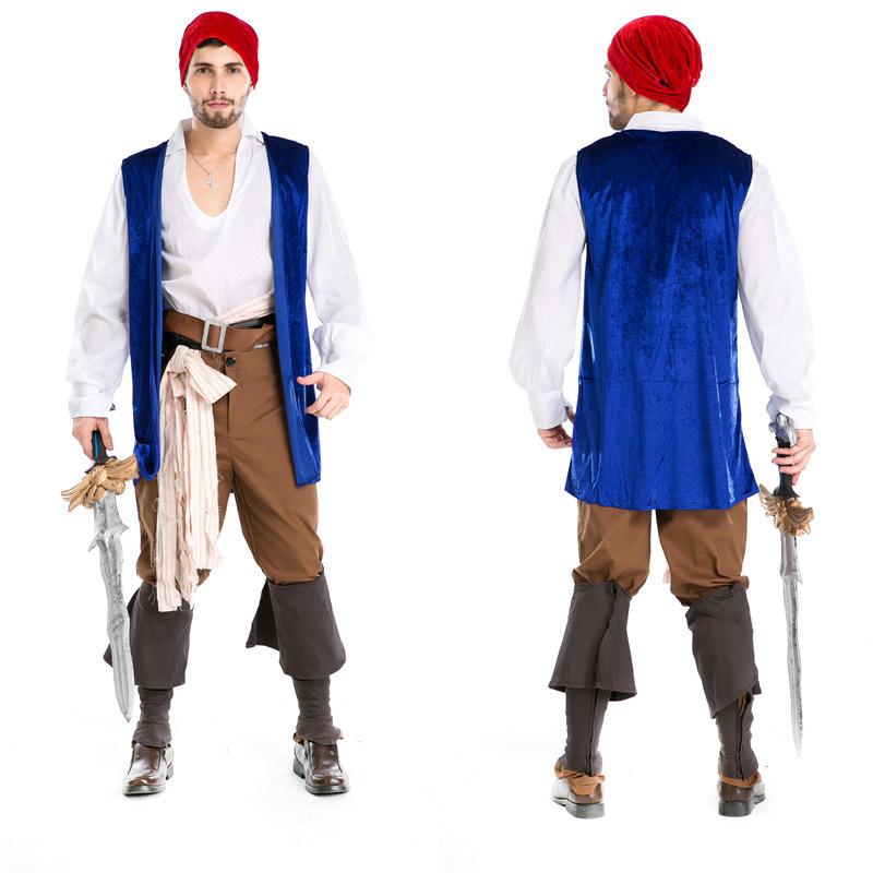 las actuaciones del partido piratas del caribe capitn jack cosplay uniformes ropa de halloween pirata casquillo