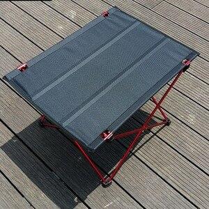 Image 3 - VILEAD Mesa de acampada portátil, mesa de aluminio plegable, resistente al agua, para exteriores, senderismo y playa, 57x42x38 cm, 6061
