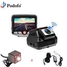 Wholesale Podofo WIFI Car DVR 2.45″ Novatek 96658 Dashcam HD Video Recorder Registrator Car Camcorder With Rear Camera/Hardwire Converter