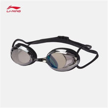 Li-Ning 2018 Unisex Professional Swim Eyewear National Diving Team Anti-UV PC Swimming Glasses Li Ning Sports Goggles ASJN002(China)