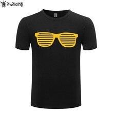 Óculos de Sol frescos Slogan T Shirt Dos Homens de Verão de Algodão de  Manga Curta engraçado Tshirt Streetwear T-Shirt da Aptidã. 5244d52683b