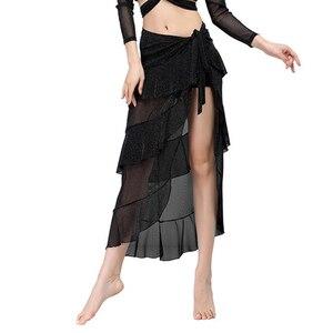 Image 2 - 2018 ใหม่เต้นรำ Belly Dance เสื้อผ้าเครื่องแต่งกายอุปกรณ์เสริมครึ่งวงกลม Wrap เข็มขัดผ้าพันคอสะโพก Belly Dance Over กระโปรงฟรีขนาด
