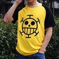 Anime de One Piece Trafalgar Ley D Agua de Manga Corta de Algodón Camiseta Cosplay Ropa Casual de La Camiseta De Moda