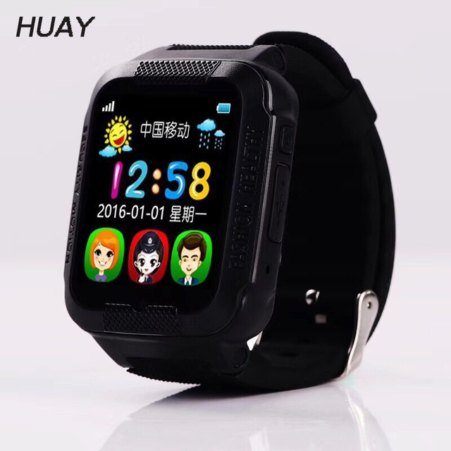Kid GPS Tracking Smart Watches Waterproof Silicone Bluetooth Camera Kids Monitor
