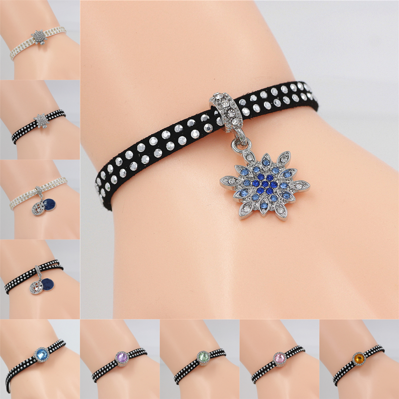 Brave 36 Styles Bracelets To Choose Black&white Crystal Snow Turtle Charm Bracelet For Women&men Lucky Friendship Wish Jewelry Gift High Quality Materials
