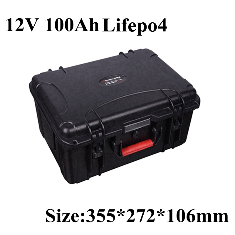 Lifepo4 12V 100AH 100A BMS Battery Pack Lithium 100ah for Boat Trolling Outboard Motor RV Yacht