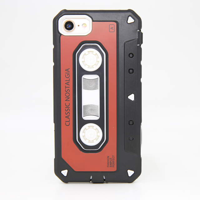 elegaming Vintage Cassette Hybrid Armor Case For iPhone 7 8 Plus Dual Layer 7 8/Plus