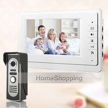FREE SHIPPING NEW 7 inch TFT White Screen Video Intercom Door phone Bell System + Waterproof Outdoor Camera IN STOCK WHOLESALE