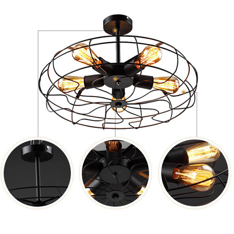 Industrial rustic vintage metal fan ceiling lamp steampunk flush industrial rustic vintage metal fan ceiling lamp steampunk flush mount light five edison bulbs cl128 in ceiling lights from lights lighting on aloadofball Choice Image