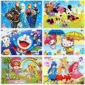 5 pcs/lot sun flower  diamond picture sticker DIY creative hand paste paper puzzle educational toys for children(26*19cm)