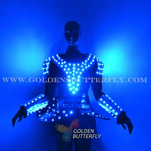 LED Clothing Luminous Pants Belt Bar Glowing Clothes Fashion Talent Show Men's Suits Ballroom Mechanical Dance Dress Accessories