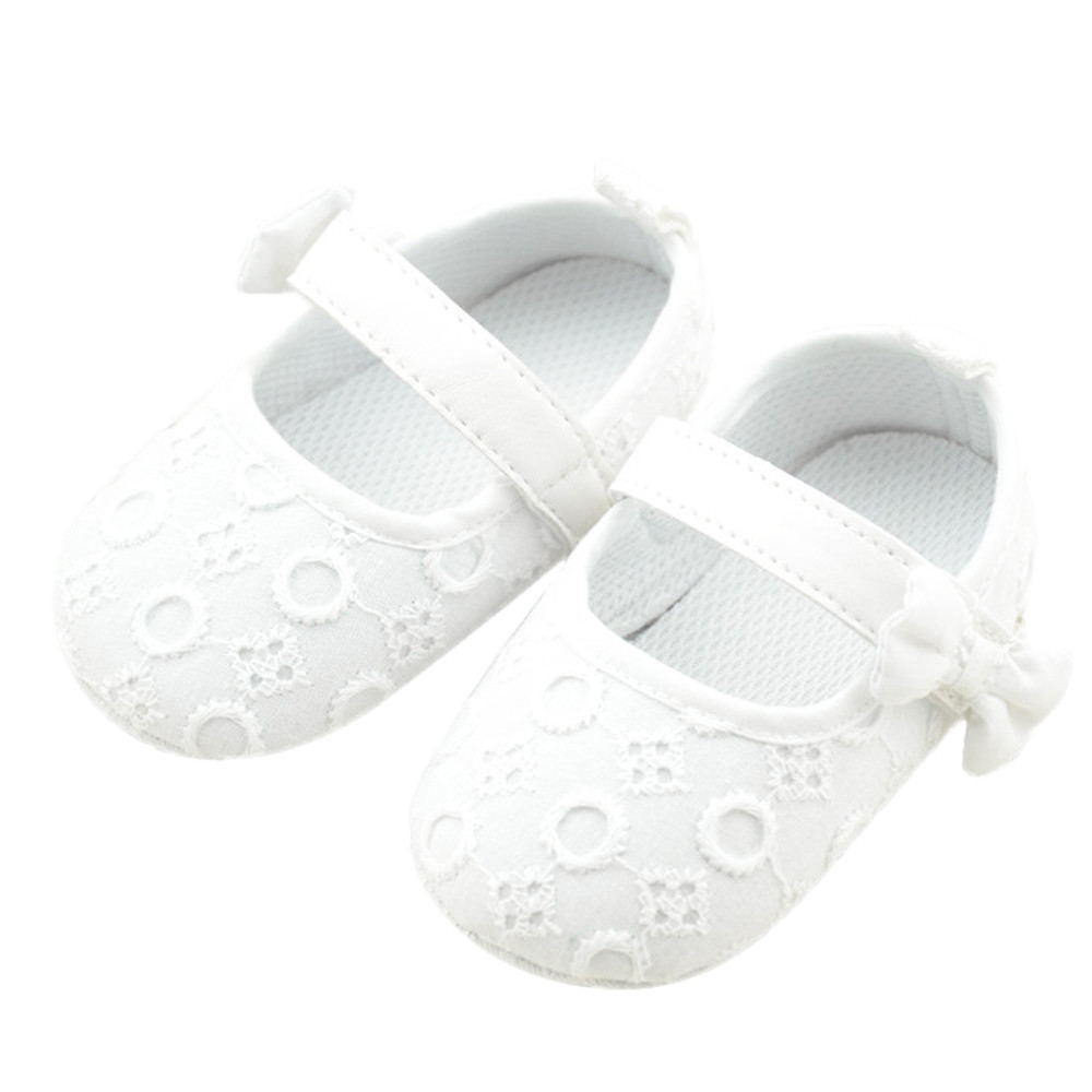Shoes Baby Soft-Bottom Toddler Fashion Bow Cute Bowknot Embroidered Personality F5
