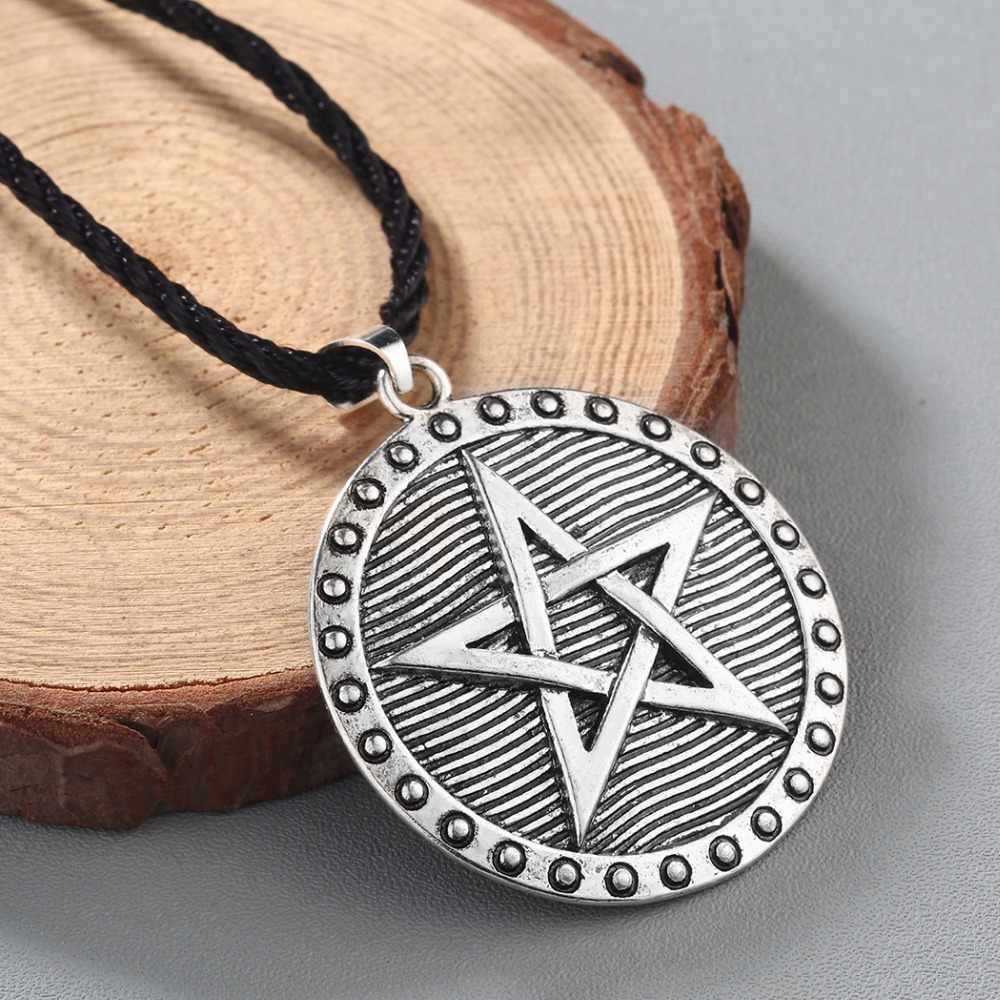CHENGXUN mężczyźni kobiety słowiański amulet naszyjnik Odin Symbol Nordic etniczne urok wisiorek Pentagram gwiazda Wiccan naszyjnik dla chłopaka