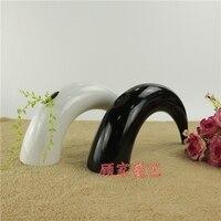 현대 세라믹 창조적 혼 꽃 꽃병 냄비 홈 장식 공예 룸 장식 물체를 웨딩 꽃병 선물 도자기 인형