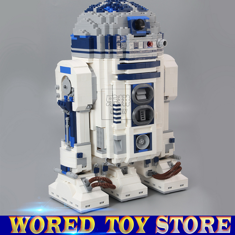 Lepin 05043 Genuine Star Series The R2 Robot Set D2 Out of print Building Blocks Bricks Toys Compatible legoed 10225 wars new lepin 21009 632pcs genuine creative series the out of print 1 17 racing car set building blocks bricks toys