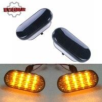 Car Side Marker Light LED Turn Signal Lamp With Black Lens Blinker For VW Jetta Golf