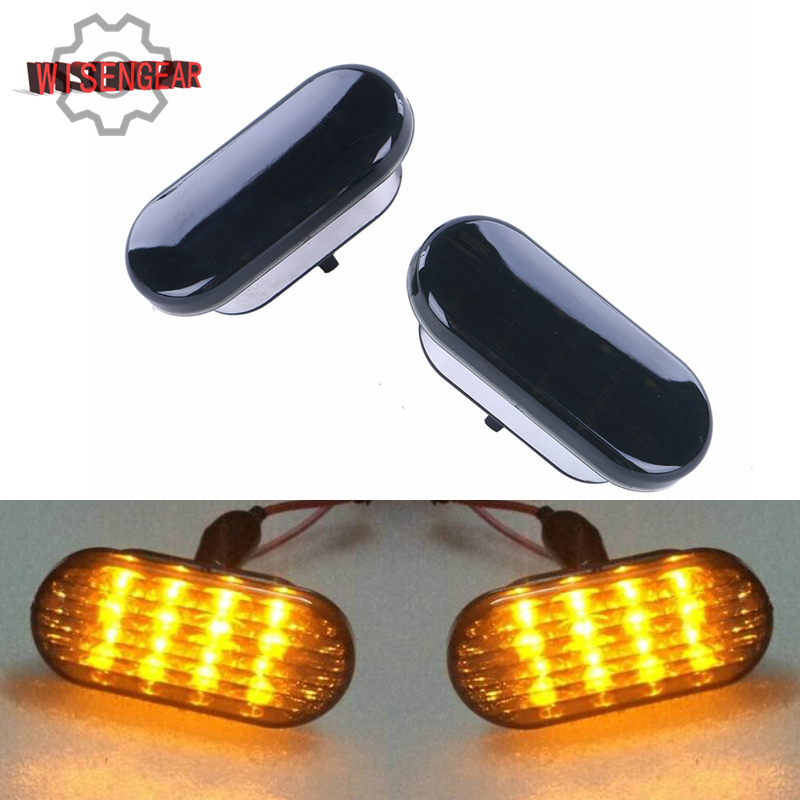 car side marker light led turn signal lamp with black lens. Black Bedroom Furniture Sets. Home Design Ideas