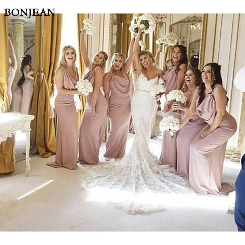 Simple   Bridesmaid     Dress   Sleeveless Formal   Dress   Chiffion Sleeveless Long 2019   Bridesmaid     Dresses   Plus Size Custom Made