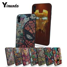 Yinuoda Funny Superhero DC Comic Marvel Coque Shell Phone Case  For Apple iphone x 5 5s SE for 7 8plus 6s plus case