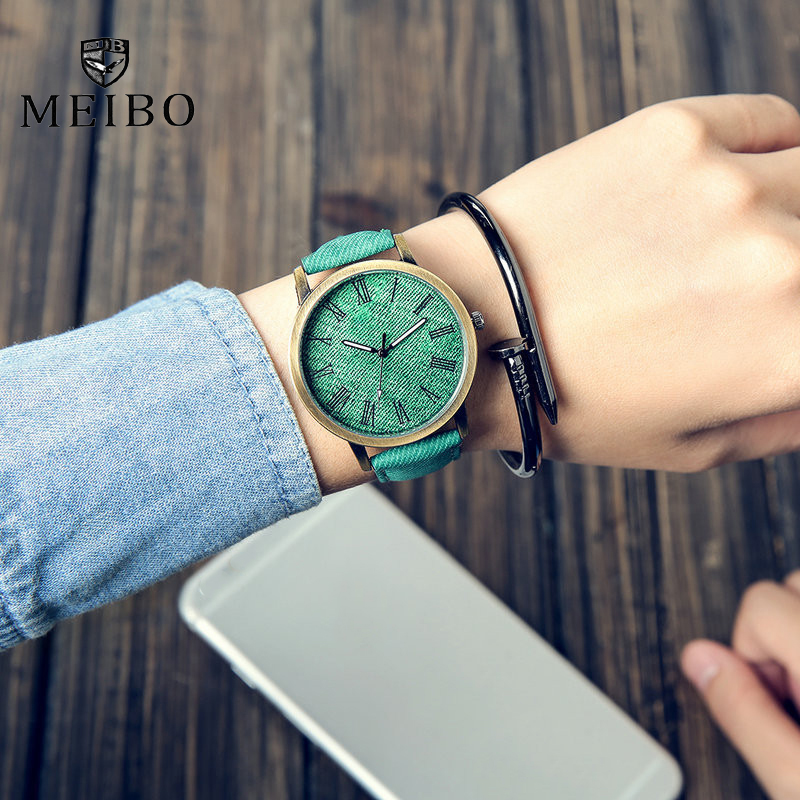 MEIBO Relojes Quartz Men Watches Casual Wooden Color Leather Strap Male Wristwatch Relogio Masculino Ladies Watch female watch jubaoli rotatable bezel male watch quartz leather strap wristwatch