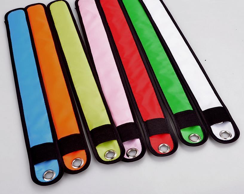 100pcs Nylon LED Sports Slap Wrist Strap Bands Wristband Light Flash Bracelet Glowing Armband Flare Strap Party Concert Armband