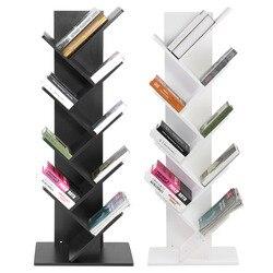 Bibliothèque de bureau moderne à 9 niveaux bibliothèque livres cd affichage étagère de rangement étagère libre combinaison bibliothèque en bois