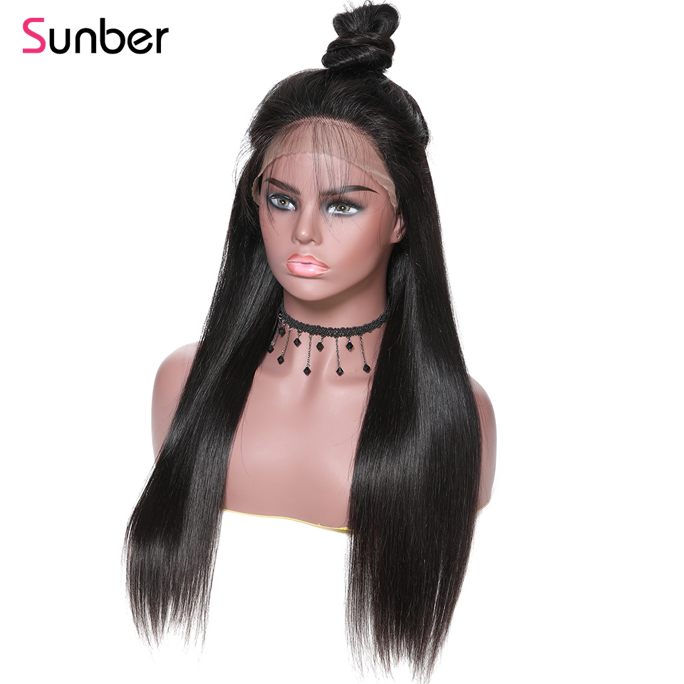 Hair Extensions & Wigs Reasonable Sunber Hair 13*6 Straight Lace Front Human Hair Wigs Brazilian Remy Hair Wig 12-28pre Plucked Natural Hairline With Baby Hair Be Friendly In Use Lace Wigs