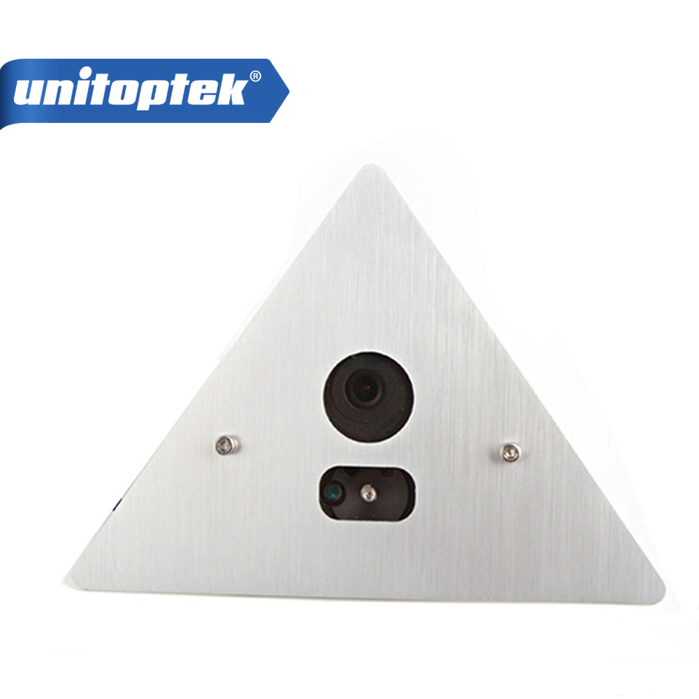 UNITOPTEK H.264 1080P HD 2MP IP Camera Onvif 3.6mm Lens Angle View Tri-angle Array IR Elevator IP Camera Support P2P XMEYE 5mp ip bullet camera h 264 h 265 compression 3 6mm fixed hd lens support poe p2p onvif