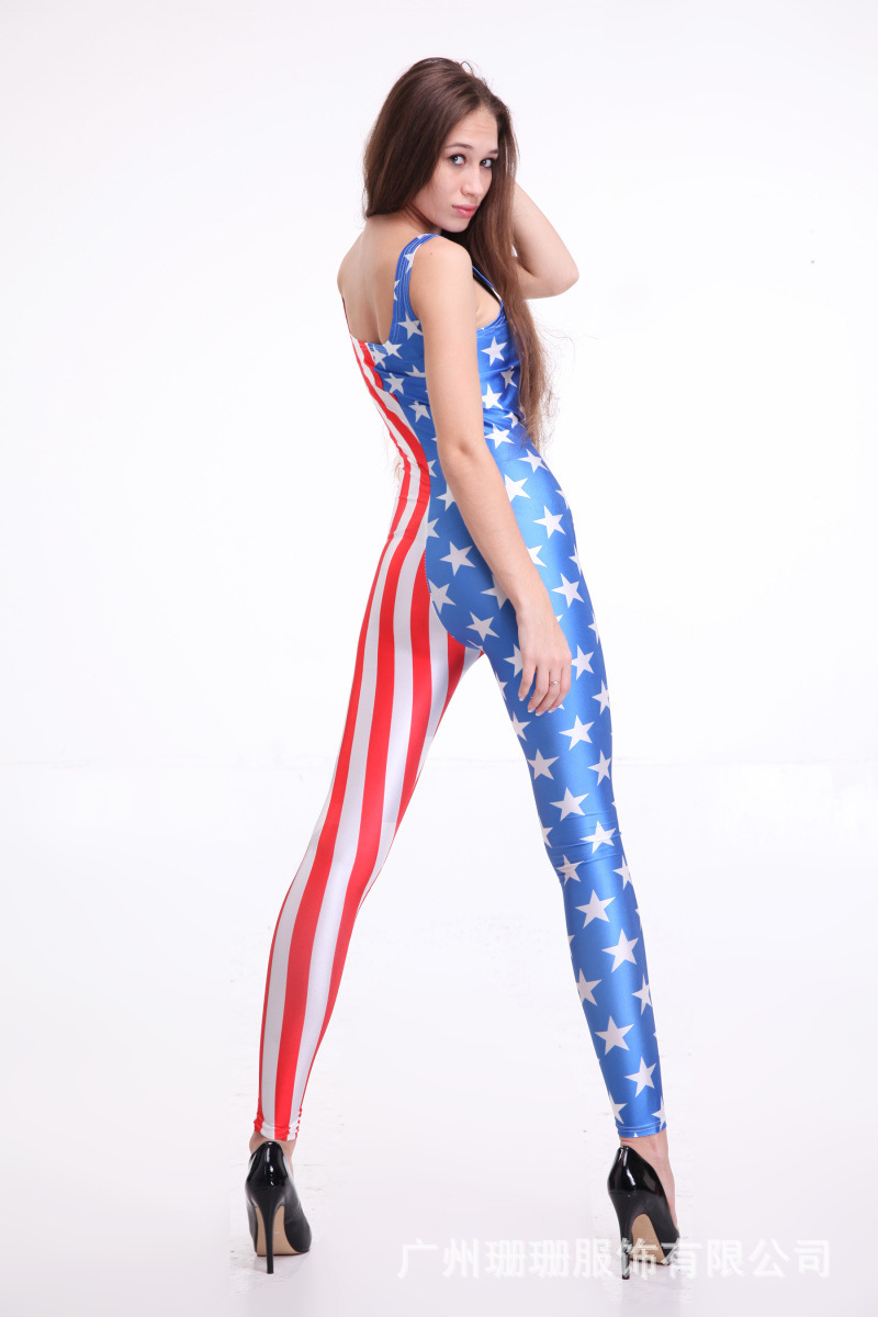 0c430d314a75 2015 Women Playsuit Summer Sexy Club Jumpsuits American Flag Onesie Macacao  Feminino Bodysuit Rompers Womens Jumpsuit Overalls on Aliexpress.com
