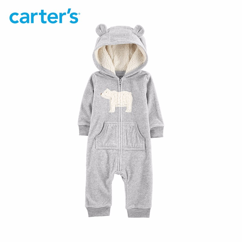 b0a7aee9bcdf Carters baby jumpsuit Hooded fleece jumpsuits One-pieces rompers Baby girl  clothes Newborn baby boy clothing 118I770