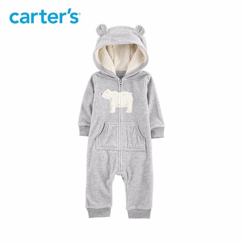 Carters baby overall Mit Kapuze fleece overalls One-stück strampler Baby mädchen kleidung Neugeborenen baby boy kleidung 118I770