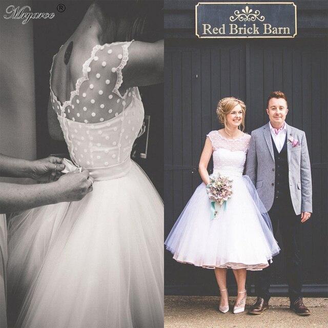 Vintage Retro 1950 s Polka Punktierte Tulle kurzes Hochzeitskleid ...