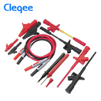 Cleqee P1600D 12 In 1 Banana Plug Electronic Specialties Test Lead Kit Automotive Test Probe Kit