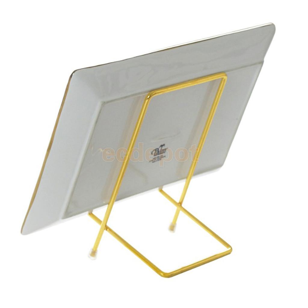 Iron Wire Display Stand Display Easels china Plate Display Photo Holder Frame Stand for Cookbooks Decorative Plates Tablets-in Decorative Shelves from Home ...  sc 1 st  AliExpress.com & Iron Wire Display Stand Display Easels china Plate Display Photo ...