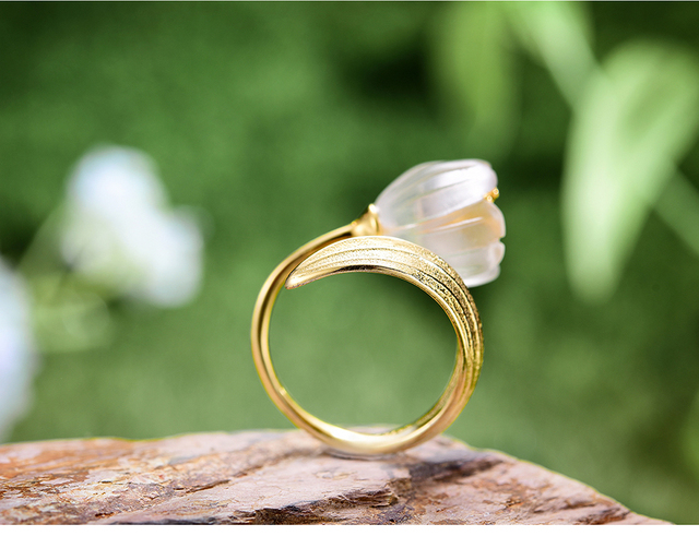 Natural Crystal Handmade Fine Flower Ring17
