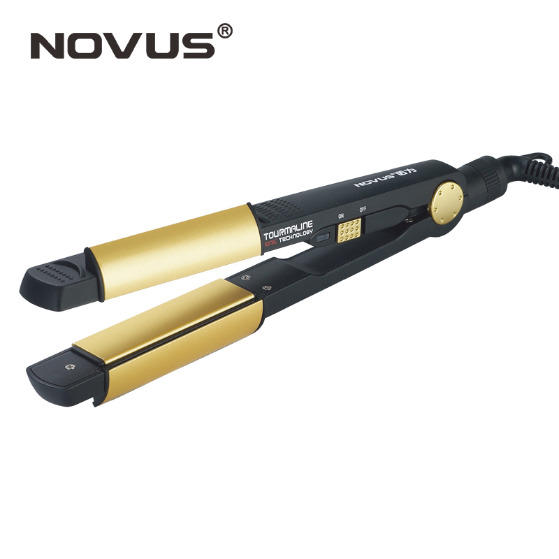 NOVUS Professional Straighting Iron Hair Straightener Curler Chapinha Ceramic Flat Irons Plancha Hair Iron Beauty Styling Tools titanium plates hair straightener lcd display straightening iron mch fast heating curling iron flat iron salon styling tools