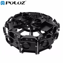 PULUZ 12 in 1 CNC Aluminum Alloy Housing Shell Protective Cage with Screw for GoPro HERO4 /3+(Black)