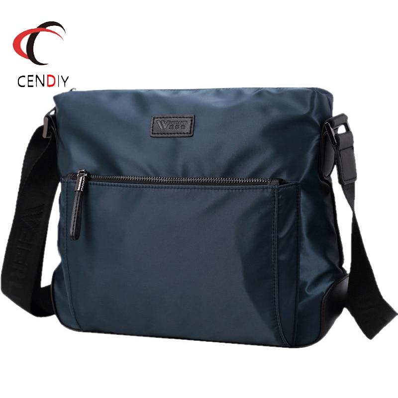 Waterproof Shoulder Bag Men Vintage Large Capacity Leisure Crossbody Messenger Bags For Men Bag Solid Casual Office Travel Bag