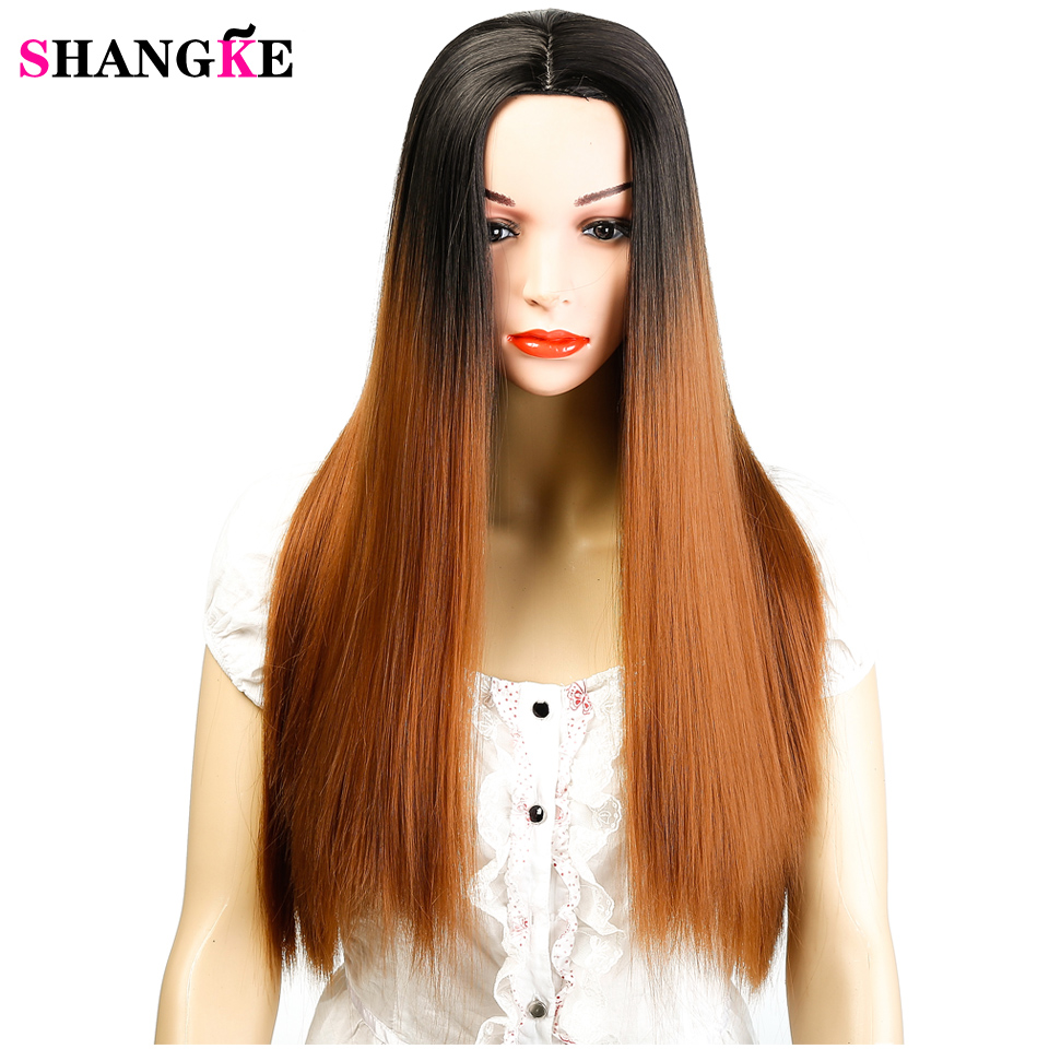 Synthetic None-lacewigs Shangke Wigs For Women Long Straight Cosplay Wigs Synthetic Hair Heat Resistant