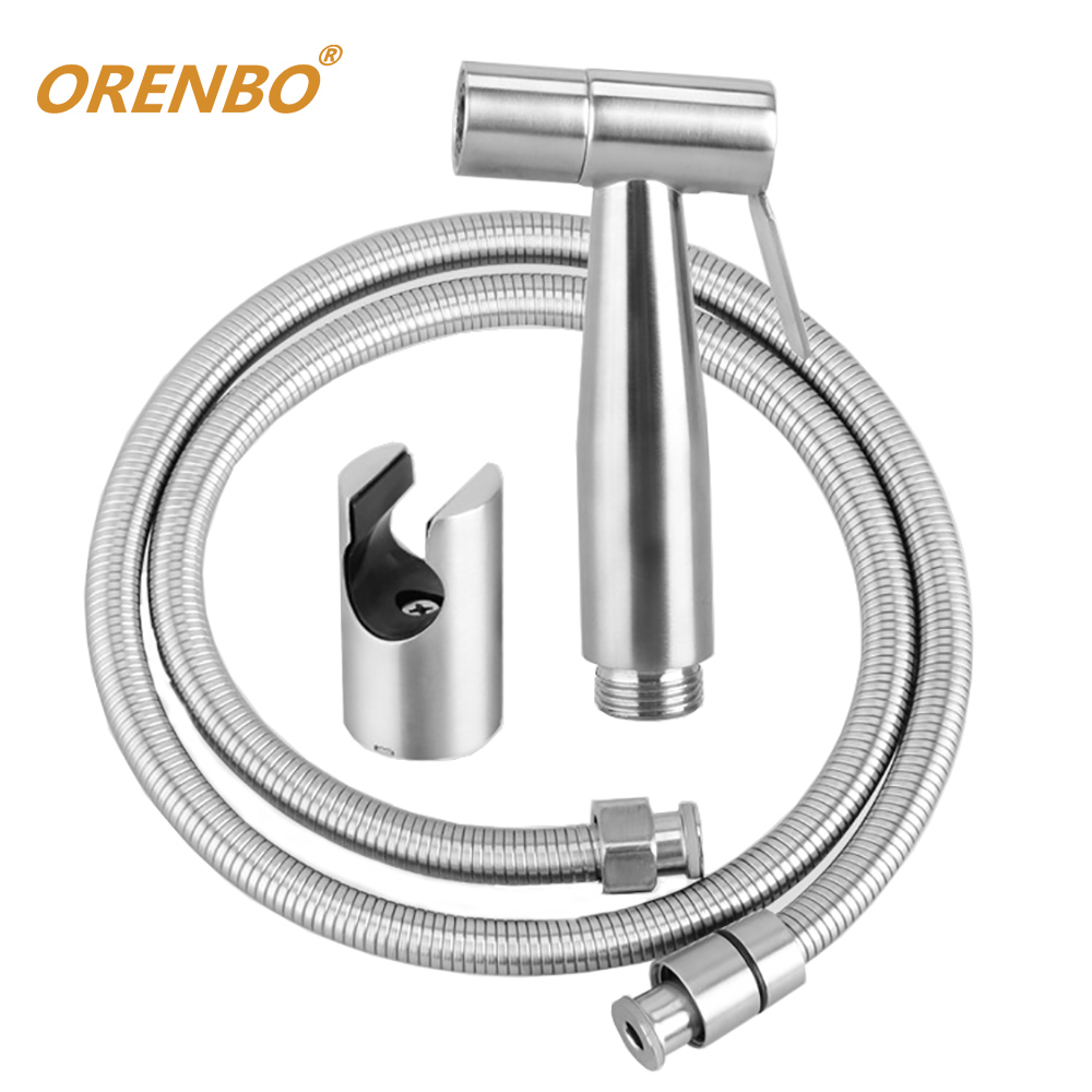 ORENBO Wc Bidet Shower Set Hand Held Toilet Bidet Sprayer Ass Washing Shower Head Bathroom Flusher Toilet Water bathroom toilet hand held shattaf bidet diaper sprayer kit wall mount golden toilet flusher bidet sprayer set