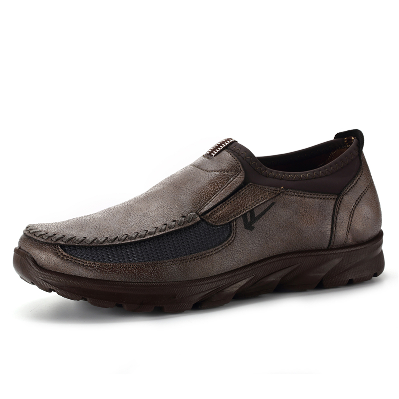 MYLEY Hot Comfortable Men Shoes Casual Design Summer Breathable Shoes Business Slip On Loafers Men Light Shoes Plus Size 39-48 stylish men s casual shoes with buckle and breathable design