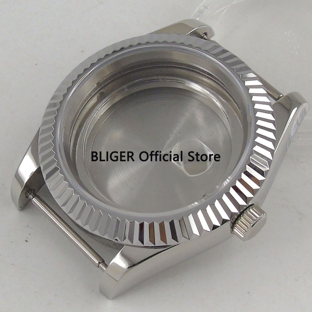 Sapphire Crystal 40mm Stainless Steel Automatic Watch Case Fit For ETA 2824 2836 MIYOTA 8215 Movement C25 цена
